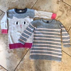Set of 2 Gap Sweater Dresses, 18-24 Months